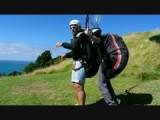 Take of van Luis zijn paraglide. Het bewijs!