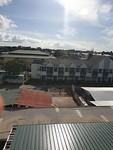 Uitzicht vanaf de afdeling om 07:30
