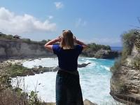 Kelly bij blue lagoon