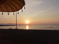 Zonsondergang op Lovina
