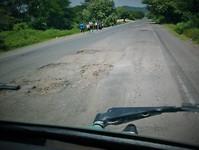 crappy roads in Honduras