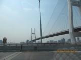 grote brug op weg naar Pudong Airport Shanghai