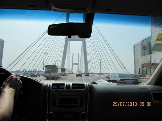 de brug over naar Pudong Airport Shanghai