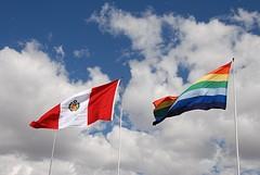 Inca en Peru te vlag