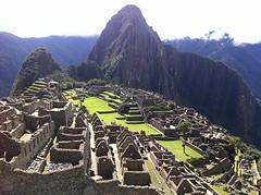 zicht op Machu Picchu