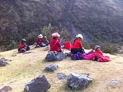 dames op de berg