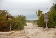 fiets en looppad Galapagos