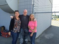 Met broer Clarence en zus Hilde