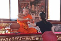 Zegening monnik