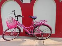 Mijn mooie roze fiets!