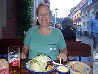 Duitse salade bij een Brauhaus