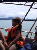 Island hoppen Finn op de boot