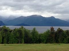 Uitzicht vanuit onze B&B: Manapouri Lake