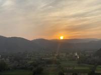 Zonsondergang Udaipur