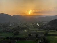 Onze laatste zonsondergang in India