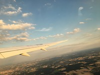 Vliegend boven Europa