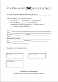 Agreement form Overland Missions