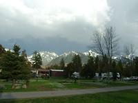 Ons uitzicht op de camping