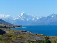 Aoraki oftewel Mount Cook, met Lake Pukaki