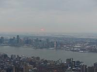 Sundown boven New York