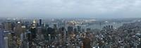 View op East River en omgeving vanaf Empire State Building