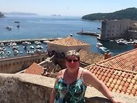 op de vestingswallen van Dubrovnik
