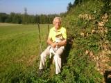 René en zijn trouwe vriend Mufli aan de rand van het bos