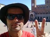 Sienna bereikt. Nog 250 km tot Rome.