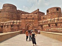 Het fort in Agra