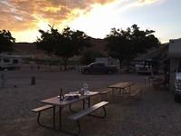 Avond eten op de campground bij Hurricane