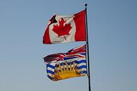 De Canadese en British Columbia vlag