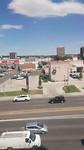 Uitzicht van ons laatste hotel in Denver.