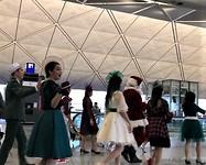 Stille nacht op luchthaven Hong Kong