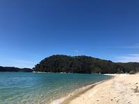 Torrent Bay waar ik afgezet word door de taxiboot