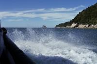 Ruige zee terug naar Kaiteriteri