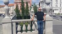 De beroemde 3 bruggen van Ljubljana
