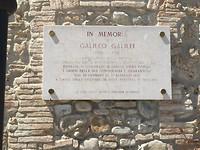 Langs het huis waar Gallilei huisarrest had