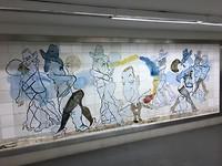 Arg. Tango dansers schilderingen in metro gangen