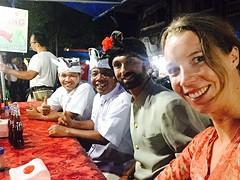 After the ceremonie we eat Babi Guling together
