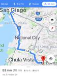 my bike route to Chula Vista