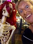selfie with something scary