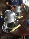 Vietnamese opschenk koffie