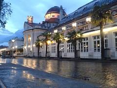 Kurhaus Merano in de regen..