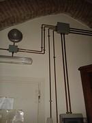 Koperen stroomleidingen in ons appartement !