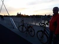 Maastricht bij zonsondergang