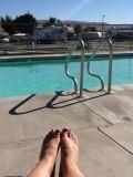 Aan het zwembad in Prosser