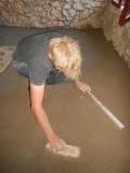 26) vloertje in de slaapkamer storten