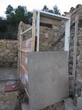 1) de douche in aanbouw