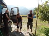 43) We nemen afscheid van Pokhara en van de gezellige Franse William en Dennis