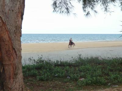 1) Lekker over het strand crossen